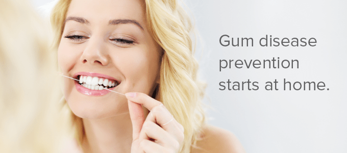 Prevention of gum disease starts at home. Dr. Rioux can help you keep your smile for a lifetime!